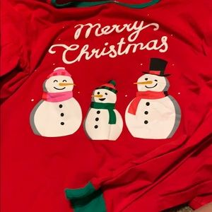 Christmas kids pj shirt